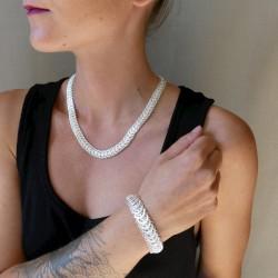 Silver filigree bracelet...
