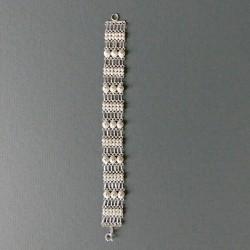 Silver filigree bracelet,...
