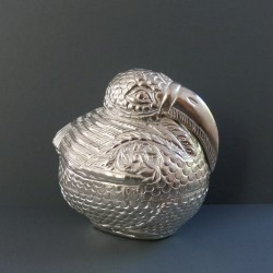 small silver bird decor