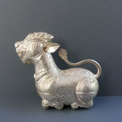 small silver chimera decor