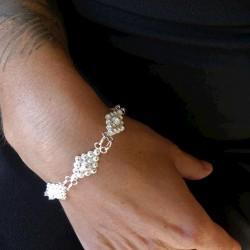 Silver filigree diamond...
