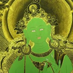 green tara thangka peinture