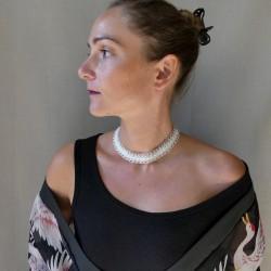 silver filigree range necklace