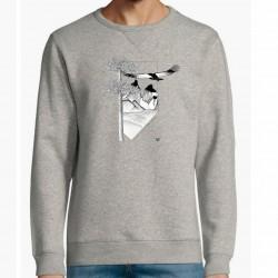 Sweat-shirt homme gris...