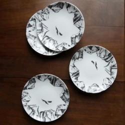 White porcelain plate...