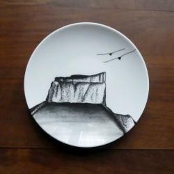 White porcelain plate Mont...