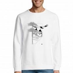 White man sweatshirt patagonia