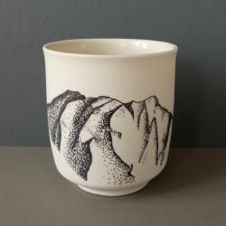 White porcelain cup annapurna