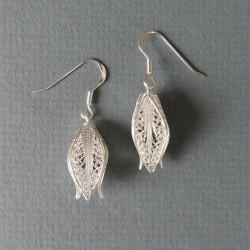 Boucles d'oreilles filigrane en argent cubiques