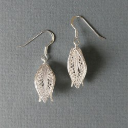 Silver filigree square...