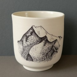 white porcelain cup...