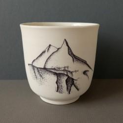 White porcelain cup manaslu