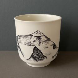 White porcelain cup everest