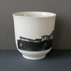 white porcelain cup Glandasse