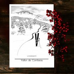 illustration nordic skiing