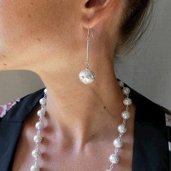 Boucles d'oreilles filigrane pendantes en argent