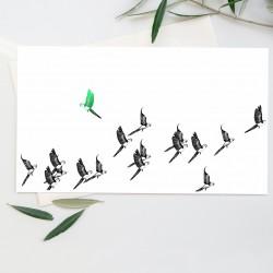 dessin vol de perroquets