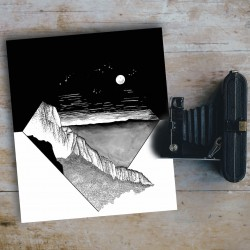illustration of rocky ridge...