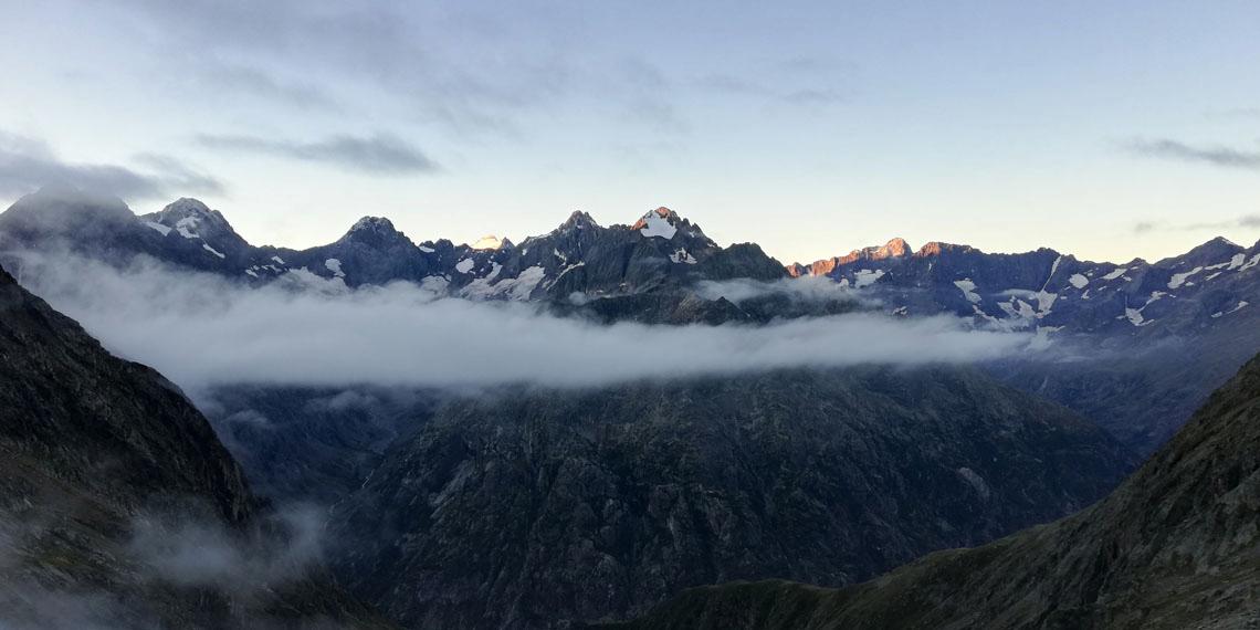 view from soreiller hut
