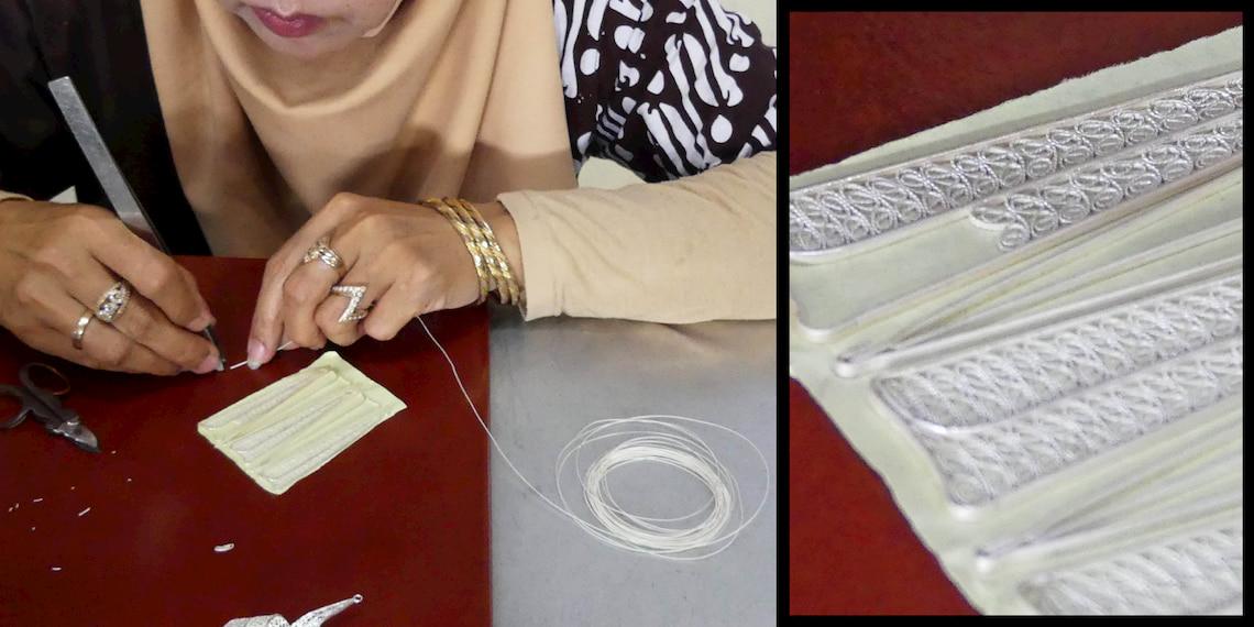 craftman making silver jewels
