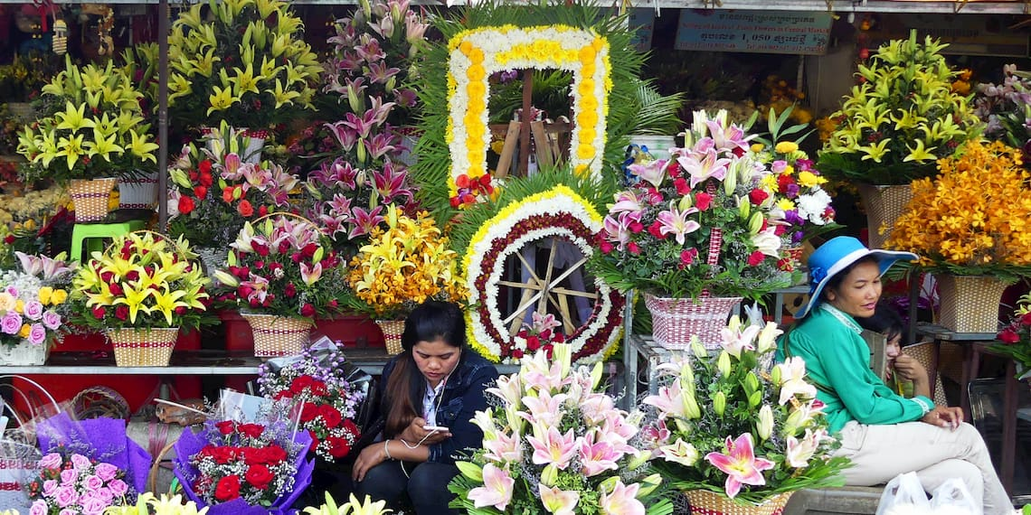 flowers market, Phnom Penh