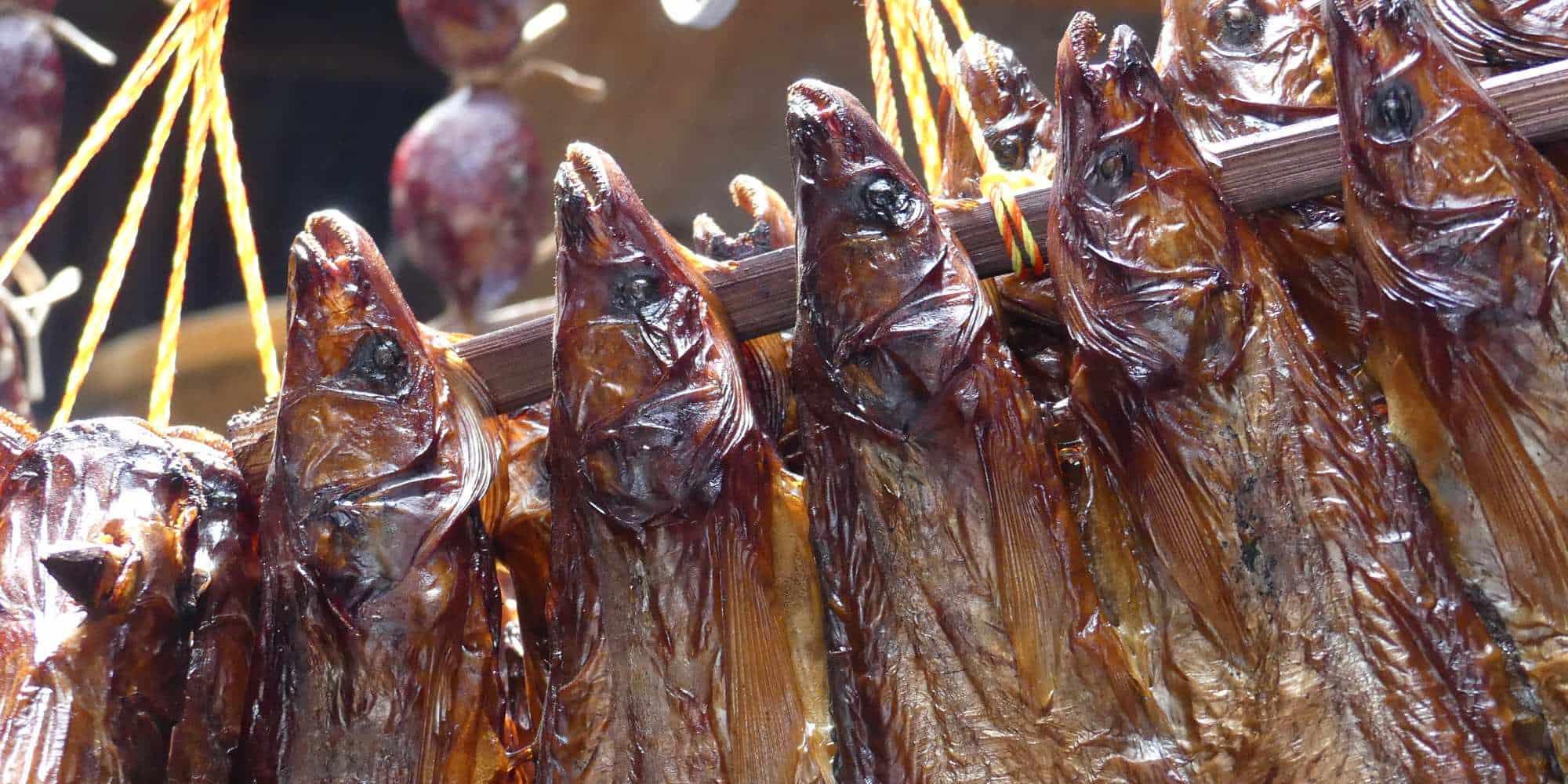 Dry fish market, Cambodia