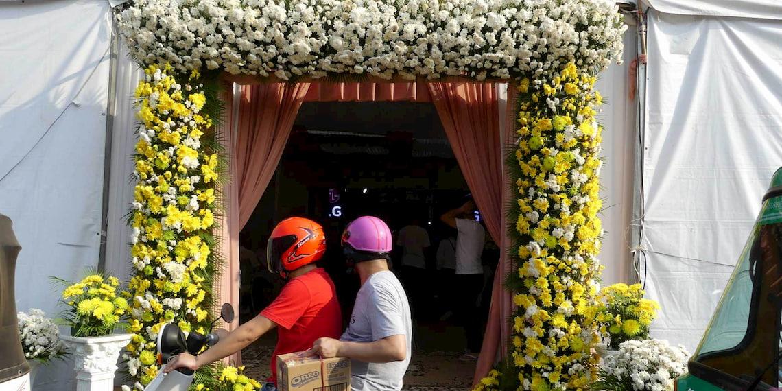 Tente de mariage cambodgien