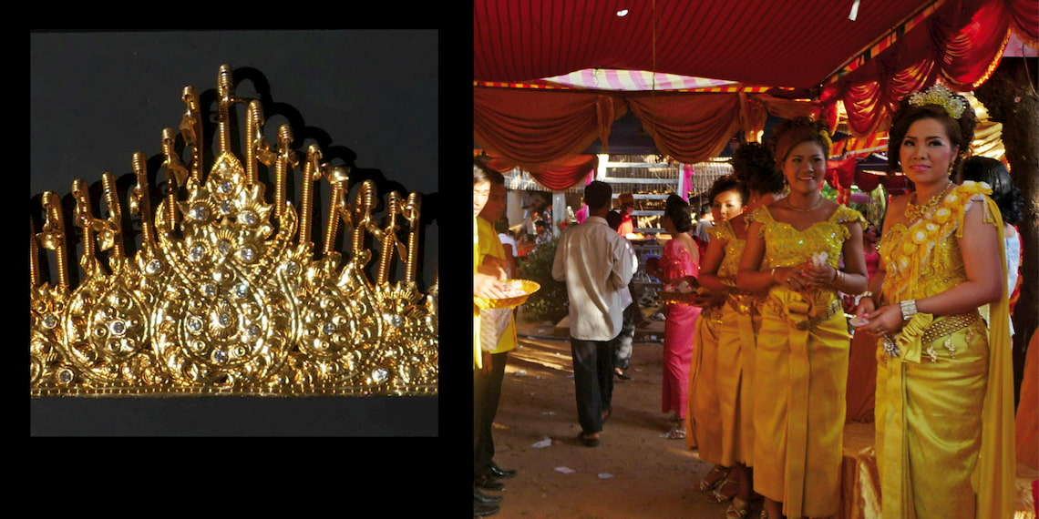 Cambodian wedding's jewels