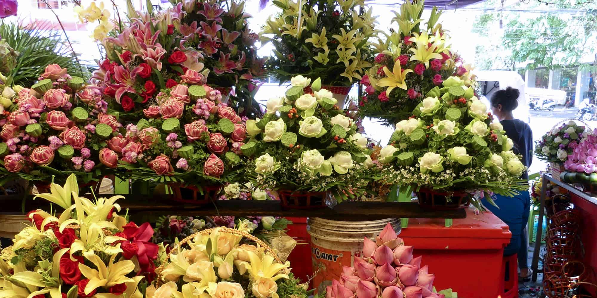 market of flowers