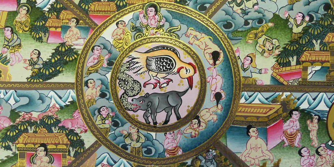 thangka wheel of life