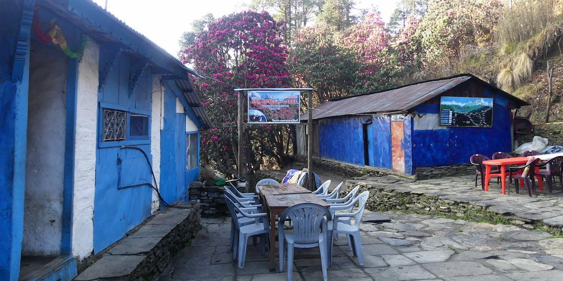 lodge house on the Ghorepani's trek