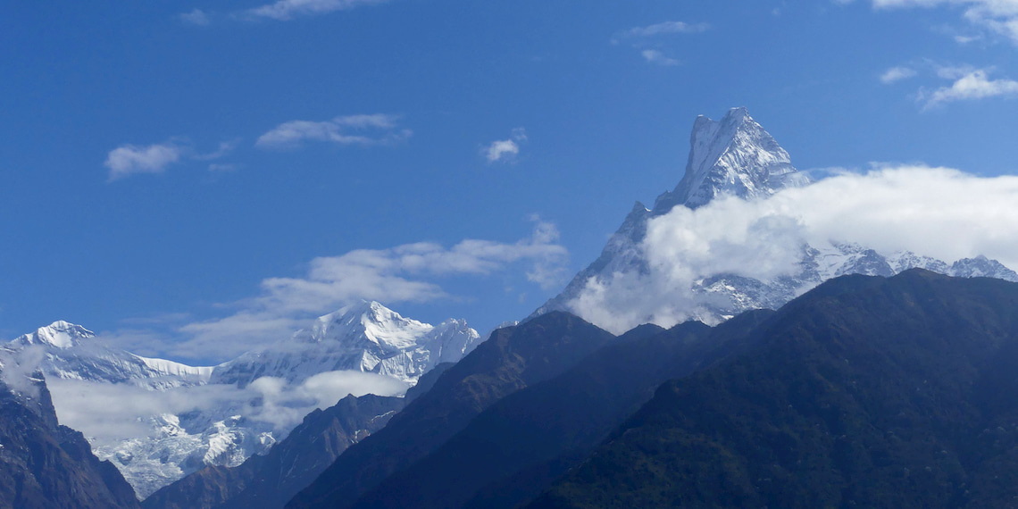 view on the Himalayans mountains